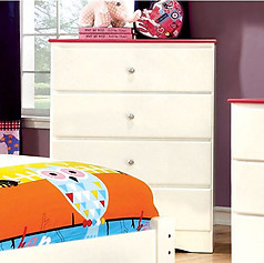Furniture of America Kimmel Chest Pink & White