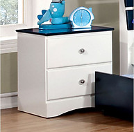 Furniture of America Kimmel Nightstand Blue & White