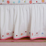 Little Acorn Natureland Fairies Embroidered Bedskirt