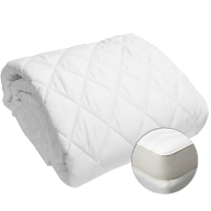 NaturaOrganic Wool-Filled Fitted Mattress Pad