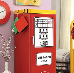 Furniture of America Petro II Single Closet Red