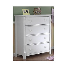 Sorelle Furniture Tuscany/ Princeton 4 Drawer Dresser White