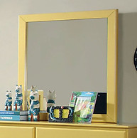 Furniture of America Prismo Mirror Yellow