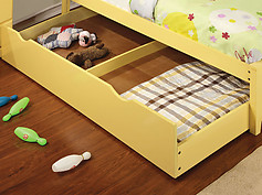 Furniture of America Prismo Trundle Yellow