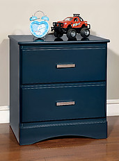 Furniture of America Prismo Nightstand Blue