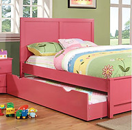 Furniture of America Prismo Bed Pink
