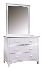 Bolton Furniture Essex 4-Drawer Dresser and Mirror Set White