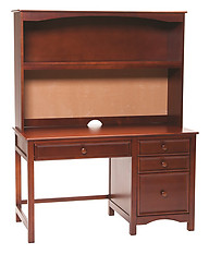 Bolton Furniture Wakefield Pedestal Desk with Hutch Set Cherry