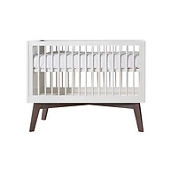 Kidsmill Sixties Convertible Crib White with Dark Pine Legs