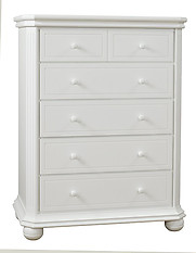 Sorelle Furniture Vista Elite 5 Drawer Dresser White