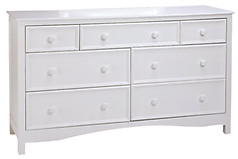 Bolton Furniture Wakefield 7 Drawer Dresser White