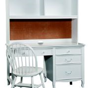 Bolton Furniture Emma Pedestal Desk with Hutch