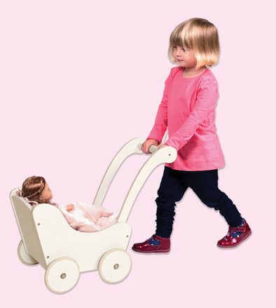 Guidecraft Doll Buggy White